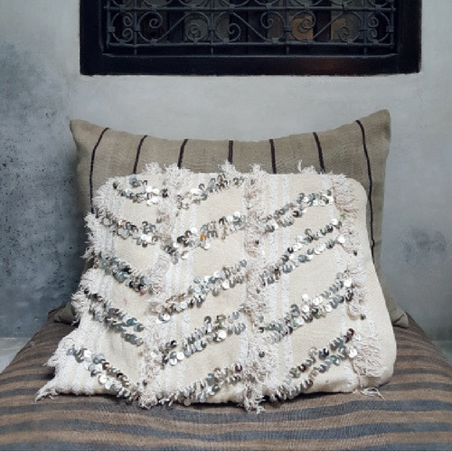 moroccan wedding blanket pillow banan 60x40 cm