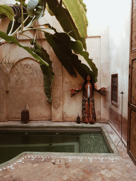 moroccan kaftan earth