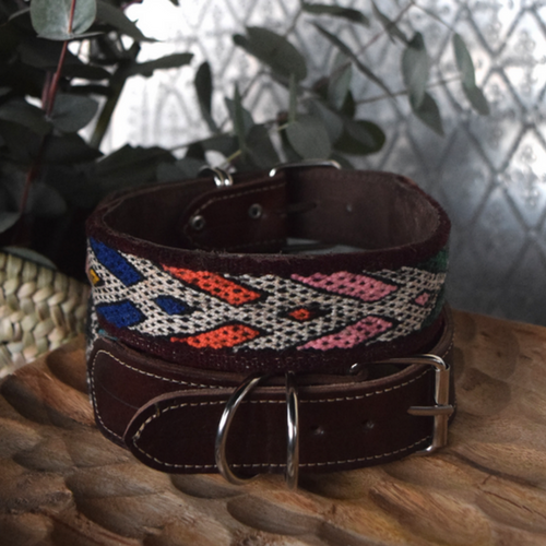kilim dog collar badi