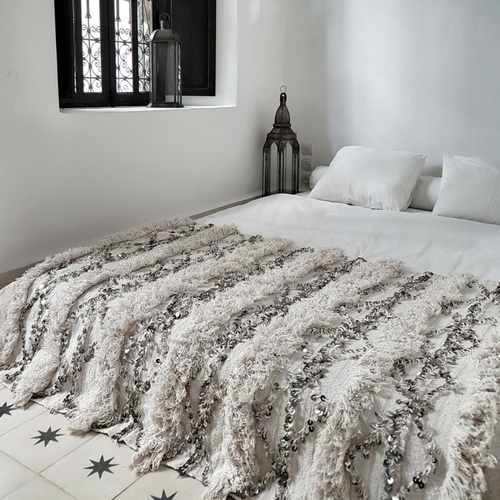 moroccan wedding blanket ghada