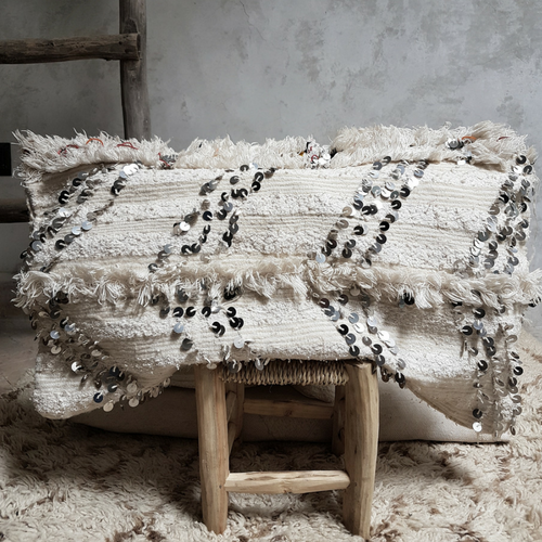 moroccan wedding blanket pillow hamra