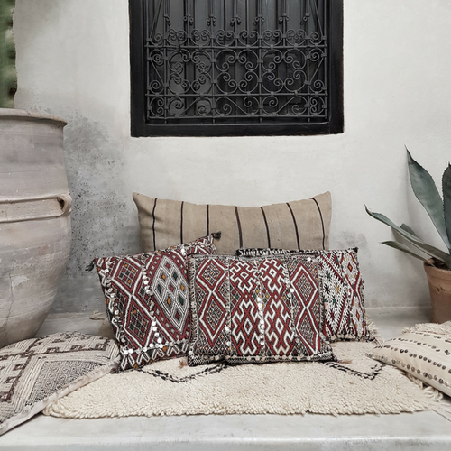 moroccan kilim pillow issam