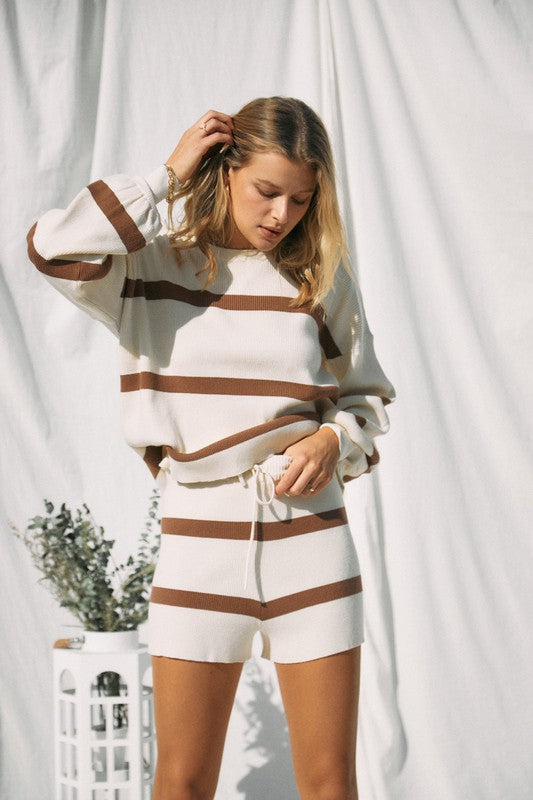 Striped Sweater Knit Set