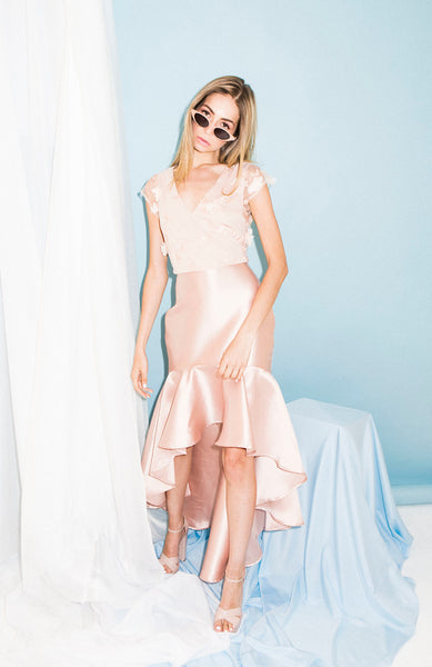 Blush Cocktail HiLo Dress