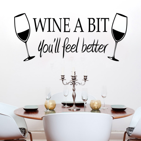 Wine A Bit Wall Decal