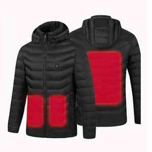 Heated Jackets Outdoor Parka with USB Electric Heating