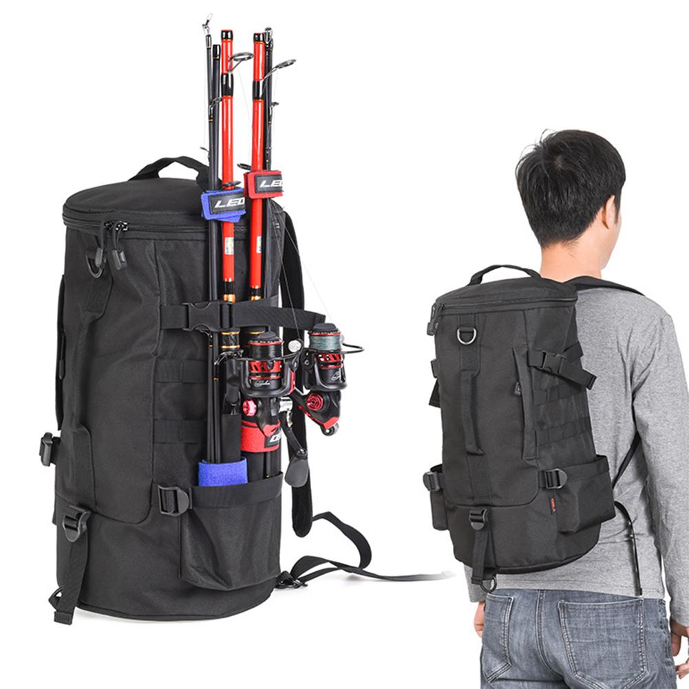 Fishing Tackle Backpack with Rod Holder