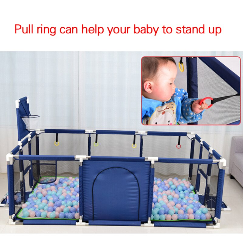 Large Baby Playpen Toddler Play Yard with Mesh Indoor Playground
