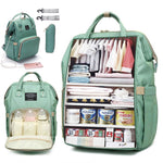 Large Diaper Bag Backpack Waterproof Maternity Baby Bag With USB