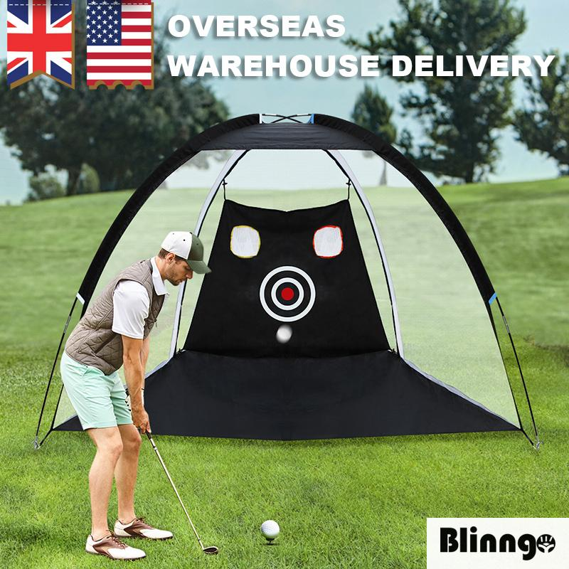Indoor Outdoor Golf Practice Driving Hitting Net Cage for Chipping and Driving Indoor Outdoor Backyard Training