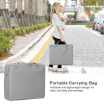 Portable Travel Baby Playpen crib Foldable Baby bassinet with Carry Bag Home Gray