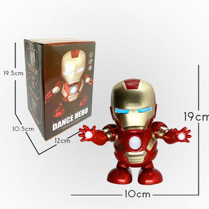 Dancing robot(Iron Man,Bumblebee,Spider man, Captain America)