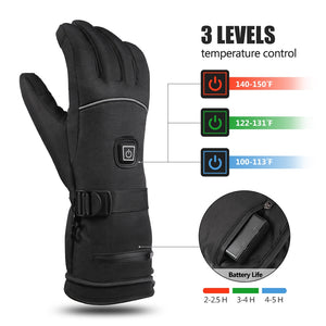 Waterproof Rechargeable Heated Gloves