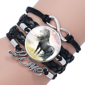 HORSE AWARENESS INFINITY LOVE BRACELET