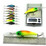 43 Pcs Colored Mix Minnow Lure Crank Bait Set