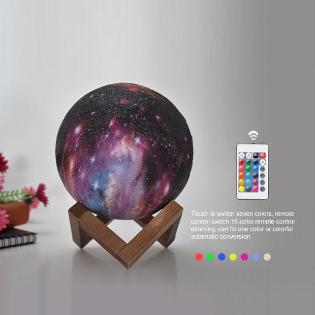 3D Printed Colour Change Planet Lamp
