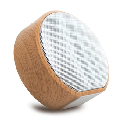 Wood Grain Portable Bluetooth Speaker