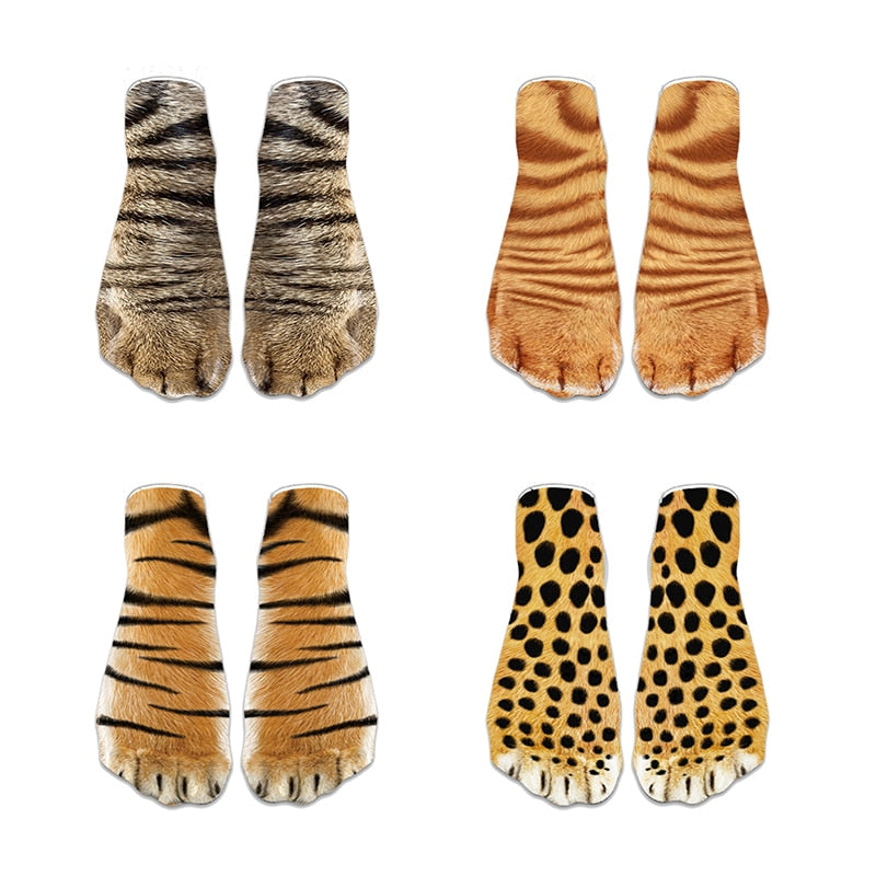 3D Animal Paw Cute Socks