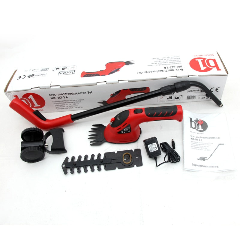 3-IN-1 CORDLESS HEDGE TRIMMER – PLANTS BRANCHES CUTTER GRASS SHEAR