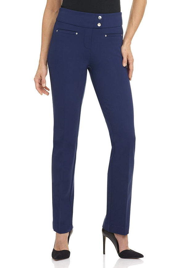 Secret Figure Pull-On Knit Straight Pant w/Tummy Control
