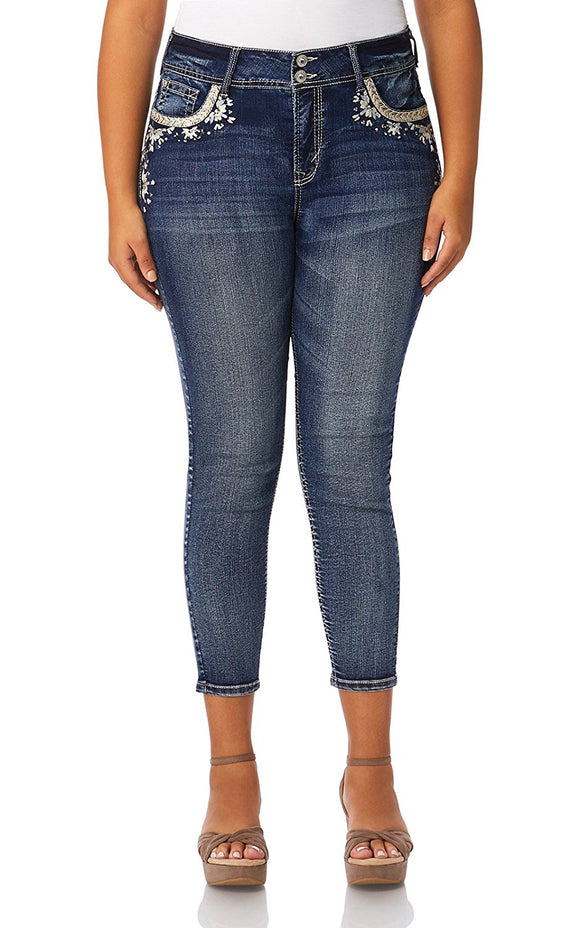 Plus Size Curvy Embellished Skinny Jeans