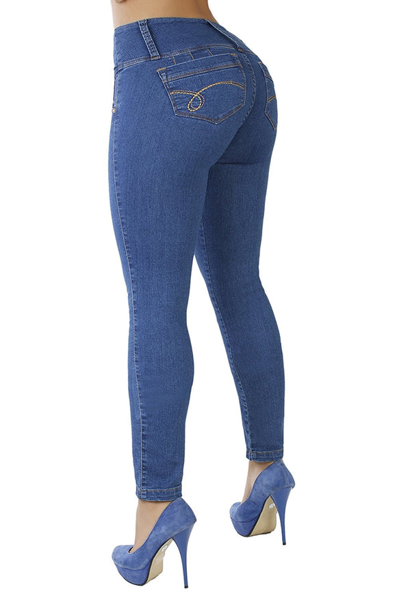 Curvify High Waisted Butt Lifting Slimming Skinny Stretch Jean