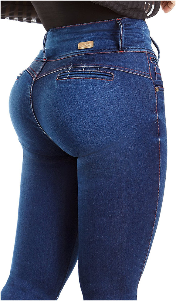 Distressed Butt Lifting Ripped Mid Rise Jeans