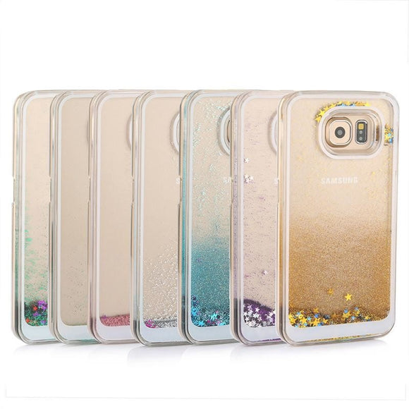 Dynamic Liquid Glitter Sand Quicksand Star Case For Samsung Galaxy S6 S7 edge Crystal Clear phone Back Cover For S7 Shell Cases - A Sheek Boutique