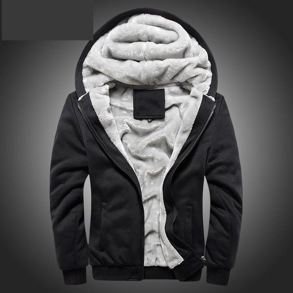 Mens Thickening Classic Fleece Jacket Winter Hoodies Sweatshirt - A Sheek Boutique