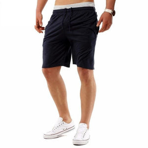 Mens Shorts Workout Shorts Bermuda Drawstring Solid Plain Joggers Casual Shorts - A Sheek Boutique