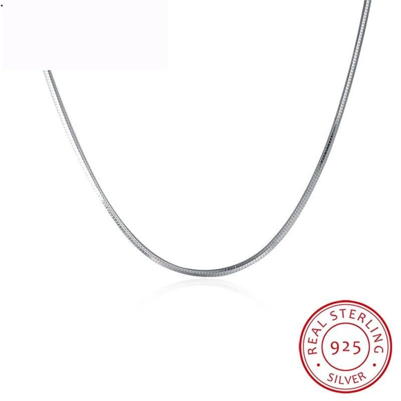 45CM 925 Sterling Silver Snake Chains Long Silver Chain Adjustable Slim Necklaces - A Sheek Boutique