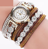 Women Fashion Casual Analog Quartz Women Rhinestone Bracelet Watch - A Sheek Boutique