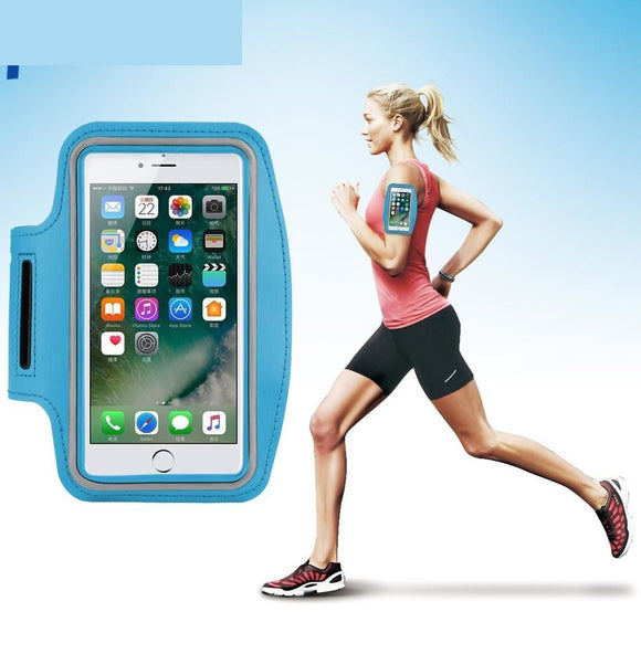 universal 5.5inch Smart Phone Running Sport Armband For iPhone 7 6S 6 Plus 5 5S SE Samsung Galaxy S8 Waterproof Bag Case
