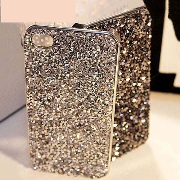 Fashion 3D Hi-Q Luxury Bling Crystal Diamond Rhinestone Hard cover pretty phone cases Capa for iphone 5 5S SE 6 7 Case - A Sheek Boutique