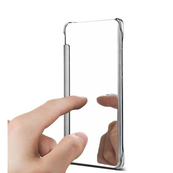 A5 A7 Case PC View Windows Ultra Thin Flip Case Luxury Plating Mirror Cover Bag For Samsung Galaxy J3 J5 J7 Fundas Phone Cases - A Sheek Boutique