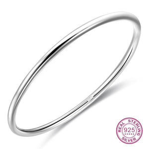 999 Sterling Silver Bracelet One/two/three Solid Simple And Generous Bangle