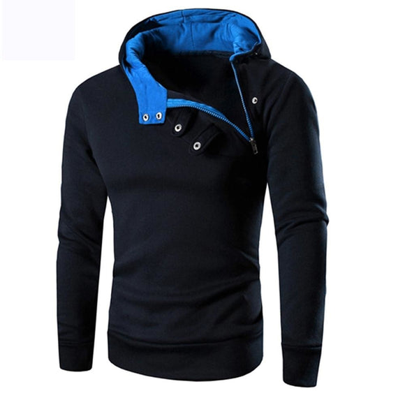 Fashion Mens Hooded Sweatshirt Zipper Long Sleeve Jacket - A Sheek Boutique