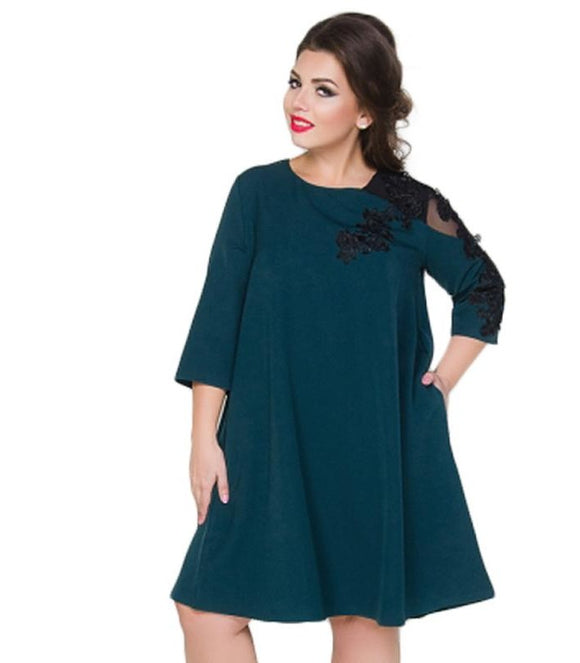plus size loose casual dress perspective dress