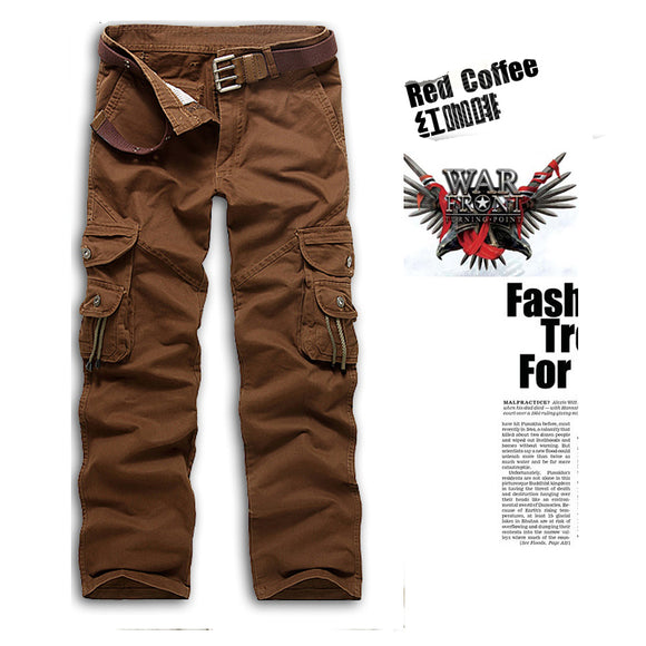 Loose Multi-Pockets Causal Pants Full-Length Cargo Pants