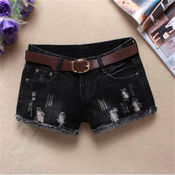 high waist jeans fashion Straight Thin Flash ripped jeans