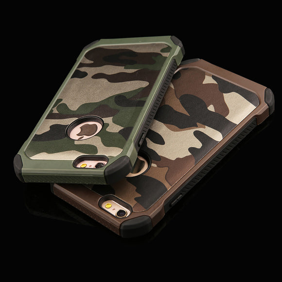 6s 2 in 1 Army Camouflage Phone Cases For iphone 4 4s 5 5s SE 6 6s Plus Armor Case Fashion Hybrid Hard PC + Soft TPU Cover Funda