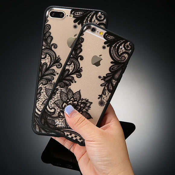 Lace Flower Case For iphone 7 6 6s Plus 5 5s SE Cover Floral Phone Cases For Samsung Galaxy S8 Plus S7 S6 edge