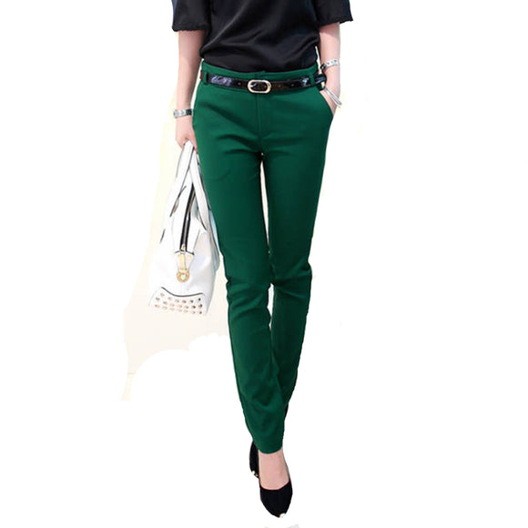 Womens Long Pants Fashion Pencil Casual Pants