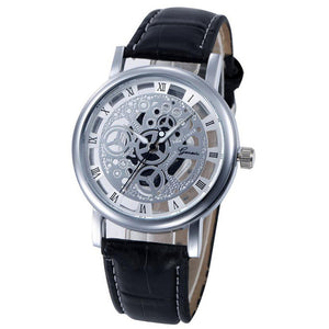 Casual Mens Watches Faux Leather Analog Quartz-Watch Men Wristwatch