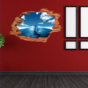 3D Cartoon Wall Stickers Decal Art