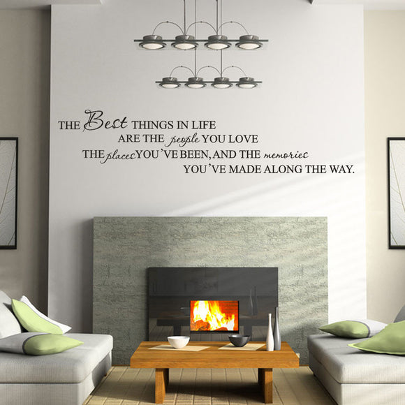 The Best Things in Life Home Removable Art Vinyl Wall Stickers