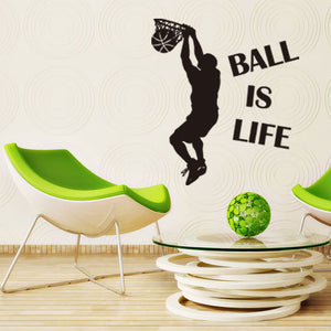 Ball Is Life Version 2 Basketball Court Wall Decal Vinyl Art Sticker
