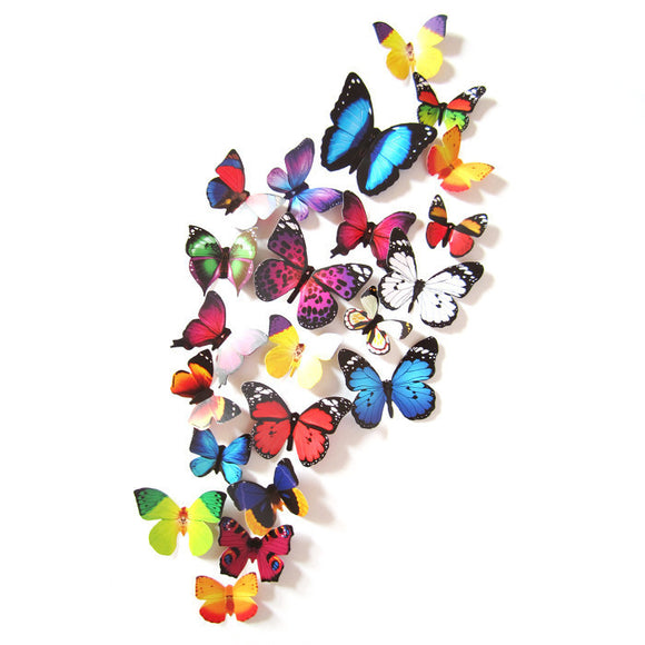 3D DIY Wall Sticker Stickers Butterfly Home Decor