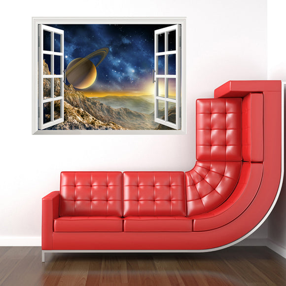 Star Art Fake Window Wall Removable Stickers
