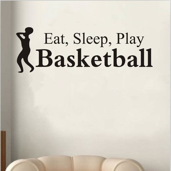 Play Basketball Letter Decal Wall Sticker Sports